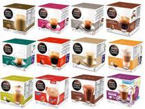 Kit C/96 Capsulas De Café Nescafé Dolce Gusto - 12 Opções -
