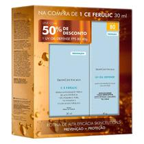 Kit C E Ferulic SkinCeuticals 30ml + UV Oil Defense FPS 80 SkinCeuticals Protetor Solar 40g -
