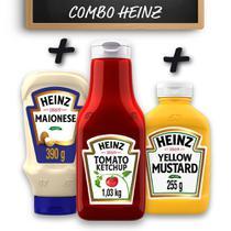 Kit c/ Ketchup Heinz  + Maionese Heinz + Mostarda Heinz -