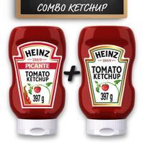 Kit c/ Ketchup Heinz Picante e Ketchup Heinz Tradicional 397g -