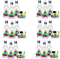 Kit Cabelos Cacheados Anjore - 4 x 500ml L-Poo - 6 Kits com 4X500ml -