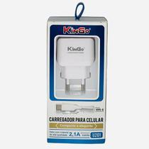 Kit Cabo Carregador Type C 2.1A Kingo U201 -