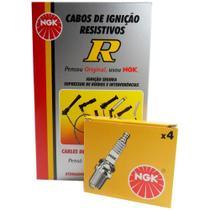 Kit Cabos + Velas NGK GM Celta 1.0 8V VHC Gasolina Todos - Kit - Cabos + Velas (Ngk)