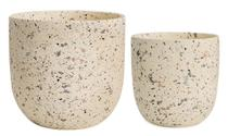 Kit Cachepot Areia em Cerâmica 2 Pcs 10525 Mart -