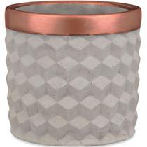 Kit cachepot em cimento - 3pcs - Mart