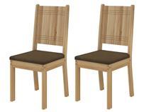 Kit Cadeira Cozinha 2 Peças Dj Móveis - Armonia