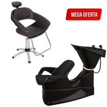 Kit Cadeira Primma E Lavatório Reclinável Dompel + Garantia -