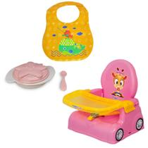 Kit Cadeirinha Alimentação + Babador + Prato Infantil Baby - Magic Toys
