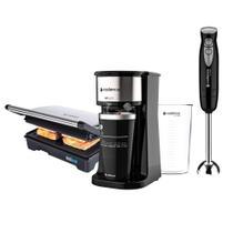 Kit Cadence Black - Cafeteira - Grill - Mixer -