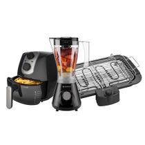 Kit Cadence Black - Fritadeira - Liquidificador - Churrasqueira -