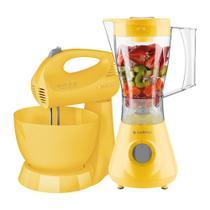 Kit Cadence Colors Amarelo - Liquidificador e Batedeira -
