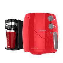 Kit Cadence Colors Vermelho - Fritadeira e Cafeteira O'Clock -