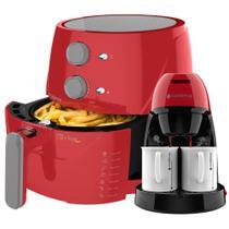 Kit Cadence Colors Vermelho - Fritadeira e Cafeteira Single -
