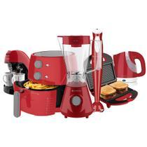Kit Cadence Colors Vermelho Light Fryer Completo -