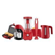 Kit Cadence Colors Vermelho Robust Cozinha Completa -