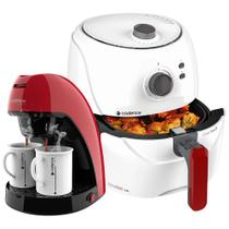 Kit Cadence Red White - Fritadeira e Cafeteira Single -