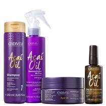 Kit Cadiveu Açaí Oil Shampoo Máscara Óleo e Ressuscitador -
