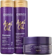Kit Cadiveu Professional Açaí Oil - Shampoo + Condicionador e Máscara -