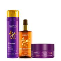 Kit cadiveu professional acai oil treatment 3 produtos -