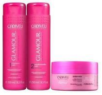 Kit Cadiveu Professional Glamour Glossy Rubi - Shampoo, Condicionador e Máscara -