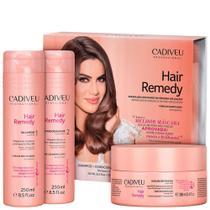 Kit cadiveu professional hair remedy reparador 3 produtos -