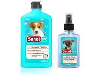 Kit Cães Filhotes Sanol: Shampoo Para cachorro Filhote + Perfume Colonia para Filhote -