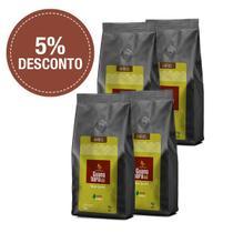 Kit Café Gourmet Guanabara grãos selecionados Sul De Minas Leve 4 pacotes 500g ganhe 5% desconto - Grãos -