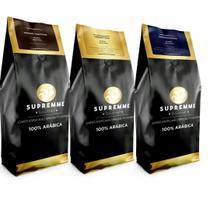 Kit Cafés Especiais Supremme Diam 250gr+Gold+Trad em grãos - Café Supremme
