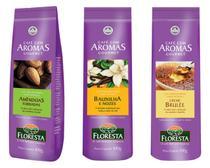 Kit cafés gourmet moído floresta 6 unidades 100 gramas -  Sabores Amêndoas+Baunilha+Creme Brulée -