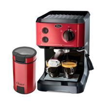 Kit Cafeteira Expresso Cappuccino e Moedor de Café Oster Red -