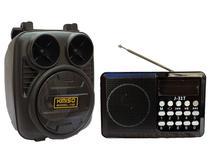 Kit Caixa de Som Fm e Rádio Portátil Pequeno Wireless Bluetooth Kit - Kimiso