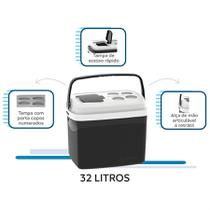 Kit caixa térmica 32 + 12 + 5 litros soprano preto -