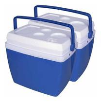 Kit caixa termica mor 34 lts azul 2 unidades -