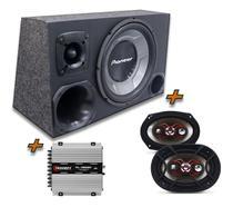 Kit Caixa Trio Sub Pioneer + 6x9 Bravox + Tl 1500 Modulo - Oestesom