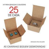 Kit Caixas Kraft / Caixinhas de Papel para Bijuterias e Semijoias KCL102 SL - Roah