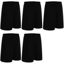 Kit calção para futebol dry  adulto  - 5 peças - esporte agatha -