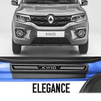 Kit Calha de Chuva Esportiva com Soleira Resinada Premium Renault Kwid 2017 18 19 - Topmix