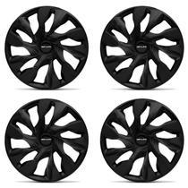 Kit Calota Esportiva Tuning DS4 Fosc Black Shutt Aro 15 Preto Fosco ABS Ótimo Acabamento Universal -