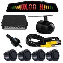 Kit Camera De Re + Sensor De Estacionamento Varias Cores - PRIME