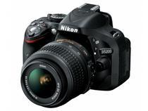 "Kit Câmera Digital Nikon D5200 24.1MP LCD 3""  - Zoom Óptico 18-55mm Filma em Full HD Modo GPS"