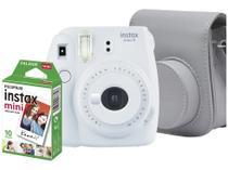 Kit Câmera Instantânea Fujifilm Instax Mini 9 - Branco Gelo Filmes 10 Poses Bolsa