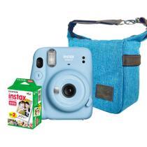 Kit Câmera Instantânea Instax Mini 11 Azul + Bolsa + Fotos - fujifilm