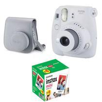 Kit Câmera Instantânea Instax Mini 9 Branco Gelo + Bolsa + Pack 60 fotos - Fujifilm - Fujitsu