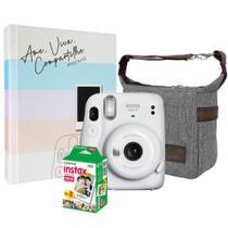 Kit Câmera Instax Mini 11 Branca + 20 Filmes + Bolsa + Álbum - Fujifilm