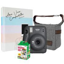 Kit Câmera Instax Mini 11 Grafite + Filmes + Bolsa + Álbum - Fujifilm