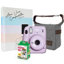 Kit Câmera Instax Mini 11 Lilás + 20 Filmes + Bolsa + Álbum - Fujifilm