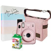 Kit Câmera Instax Mini 11 Rosa + 20 Filmes + Bolsa + Álbum - Fujifilm