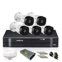 Kit Câmera Intelbras com 5 Câmeras de Segurança 1080p -