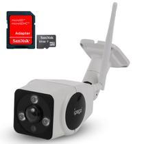 Kit Câmera Ip HD Wifi Sem fio Ext. 360 Ípega com Cart. de Mem. 64gb -