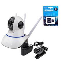 Kit Câmera IP sem fio 3 Antenas 720P Onvif Visão Nortuna + Cartão de Memória 8GB com Adaptador - Outros